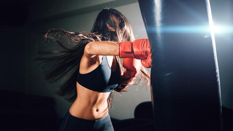 women boxing gloves