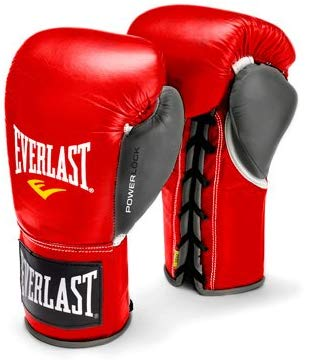 Everlast 8oz Red/Gry PowerLock Pro Fight