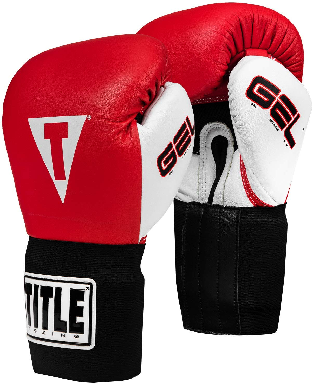 New in Bag Black//Red Title Classic Boxing Training Gloves Large